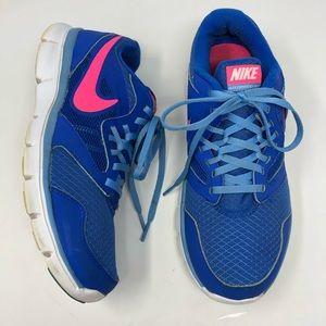 Nike Flex Experience RN 3 Cobalt Blue Pink Sneaker